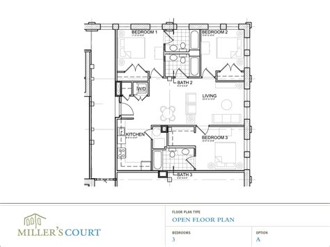 open floor plan layout floor plans
