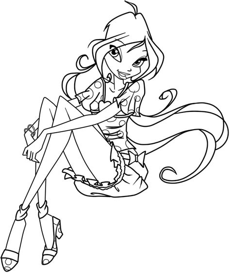 Winx Club Coloring Pages And Book Uniquecoloringpages Coloring Pages 808