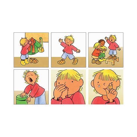 imagenes de relaciones temporales caja de secuencias temporales de rutinas en el colegio
