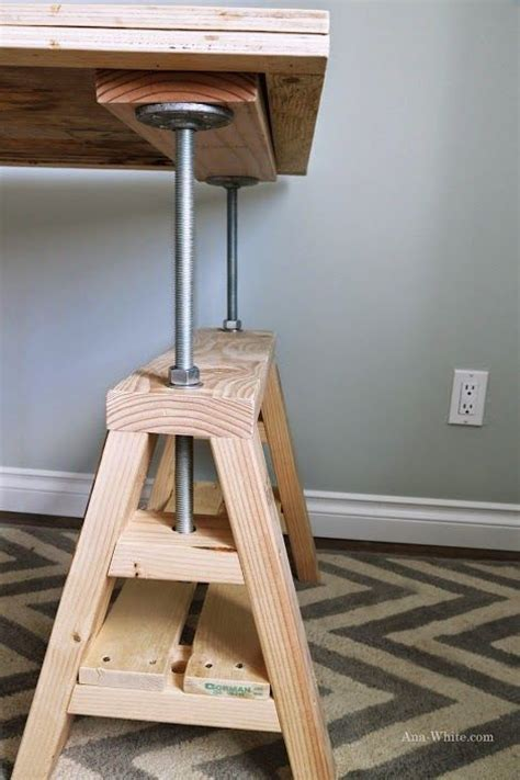 Diy Industrial Desk by Diy Industrial Adjustable Sawhorse Desk To Coffee Table