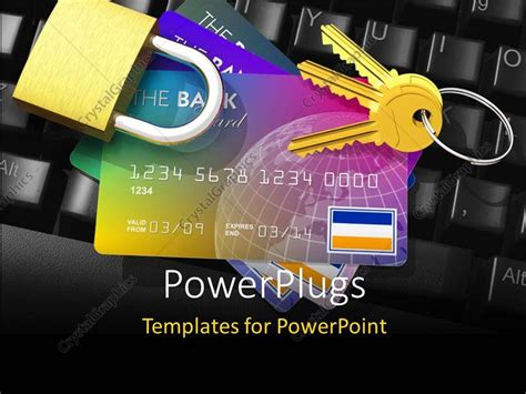 Credit Card Key Template by Powerpoint Template Banking Security Depiction