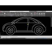 AUTOCAD Dibujo De Un Carro  YouTube