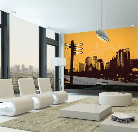 contemporary city street signpost wall mural justice wall mural contemporary wallpaper