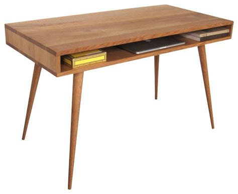 mid century desk with wood legs 48 l x 24 w x 29 h