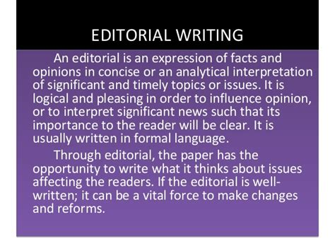 writing an editorial template opinion and editorial writing