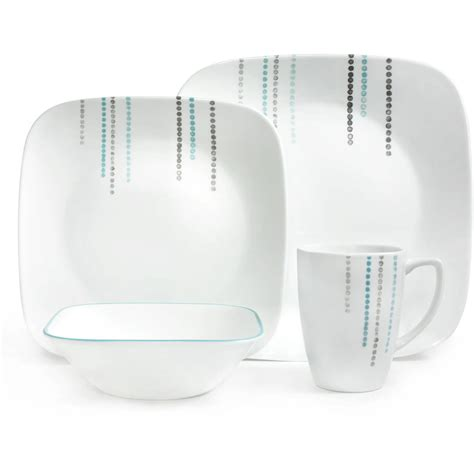 Sale Set Square corelle square 16 pc dinnerware set drops square