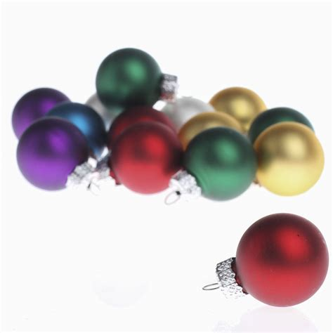 miniature assorted glass ball ornaments christmas