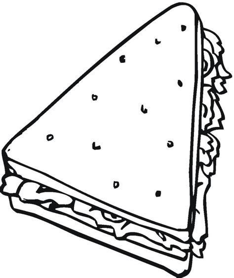 Sandwich Coloring Pages free coloring pages of food colour