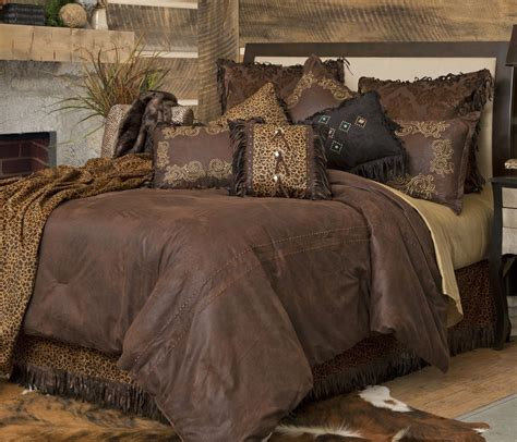 bed comforter sets queen western bedding set bed comforter twin queen king rustic cabin lodge brown new ebay