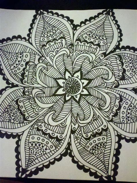 henna inspired drawing by universereclining on etsy