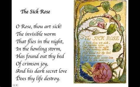 theme sick rose william blake 10th english