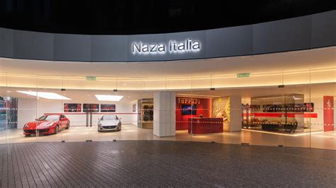 ferrari showroom naza italia opens doors to the second ferrari showroom in