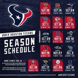houston texans 2017 schedule released