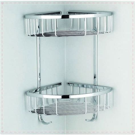 bathroom corner wall shelves high quality 2 layers bathroom corner wall shelf in