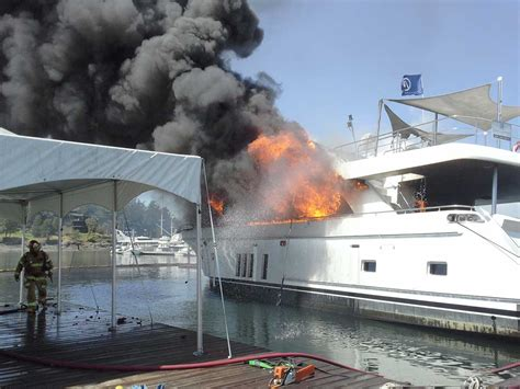 yacht fire yacht fire at roche harbor san juan island update