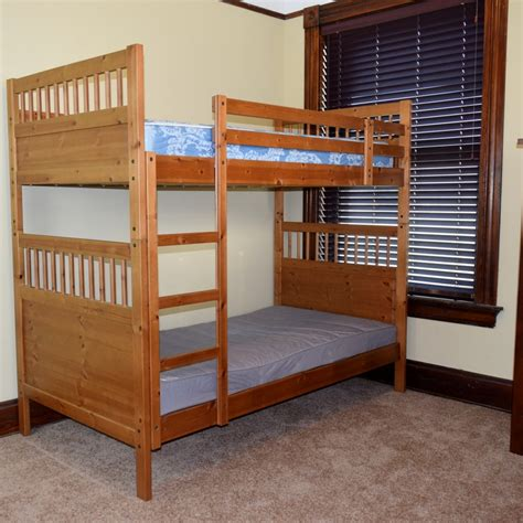 Bunk Beds With Mattresses Ikea Ikea Hemnes Wood Bunk Beds Ebth