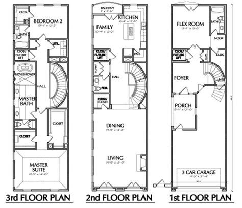 townhouse plans narrow lot 17 best images about narrow lots on house