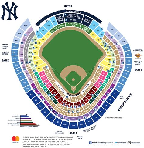 yankee stadium seating chart view section yankee stadium seating map mlb com