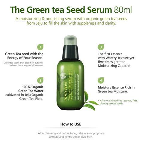 harga spesifikasi innisfree the green tea seed serum