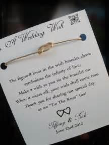 Tie The Knot Bracelet Wedding Favors wedding favor idea in quot tying the knot quot alp