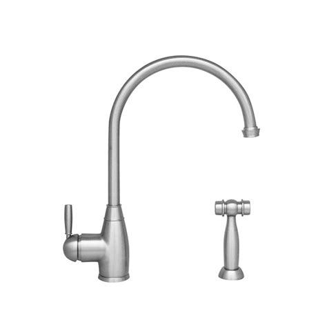 polished nickel kitchen faucets whitehaus collection queenhaus single handle standard