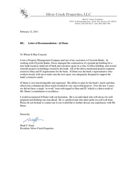 Bank Letter Of Reference Sle Recommendation Letter Fania