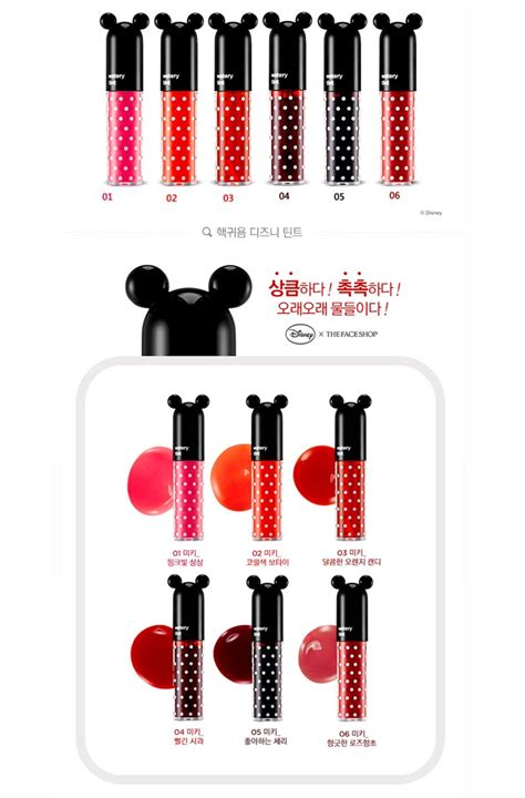 Harga The Shop Lip Tint Disney box korea the shop watery lip tint disney
