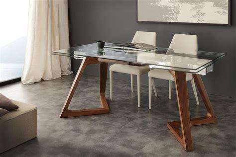 tavoli da pranzo in vetro allungabili tavolo con piano in vetro allungabile idfdesign