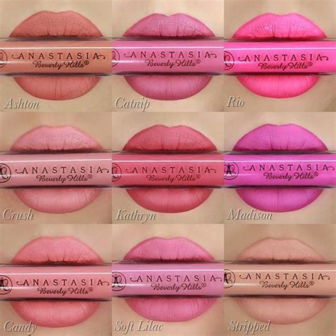 anastasia beverly hills liquid lipstick in crush swatches best 25 anastasia beverly hills lipstick ideas on