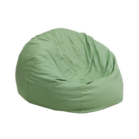 Small Bean Bag Chairs Small Solid Green Bean Bag Chair From Renegade