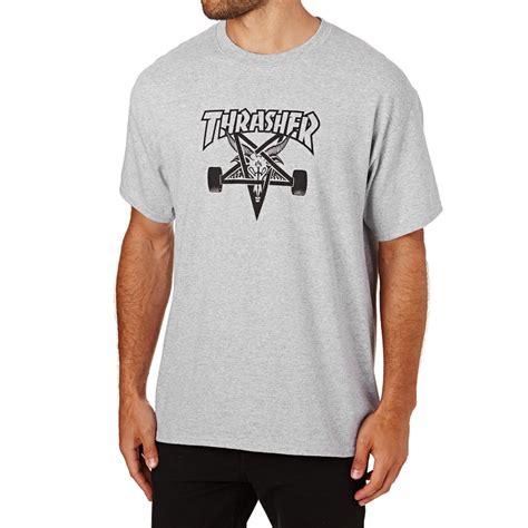 Kaos Thrasher Thrasher Tees Thrasher Tshirt Thrasher 6 thrasher skategoat t shirt grey free delivery options