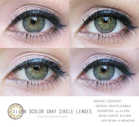 most comfortable circle lenses sakuranko circle lens ellen 3color gray