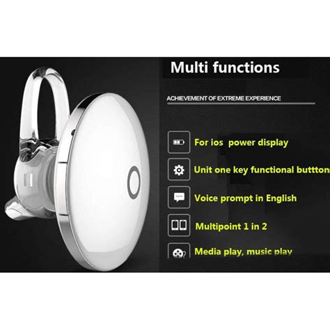 Mg Mini Bluetooth Earphone Ufo Style Stereo Headset With Microphone mini bluetooth earphone ufo style stereo headset with