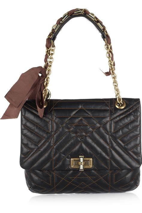 Quilted Bag by Lanvin Happy Birthday Quilted Leather Shoulder Bag All
