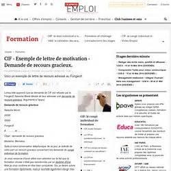 Demande De Cif Lettre Application Letter Sle Exemple De Lettre De Demande Fongecif