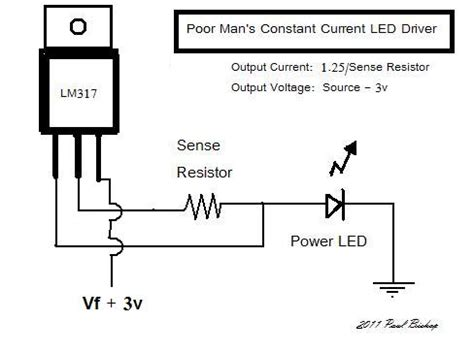 lm317 resistor wattage current sources led laser diode which to consider