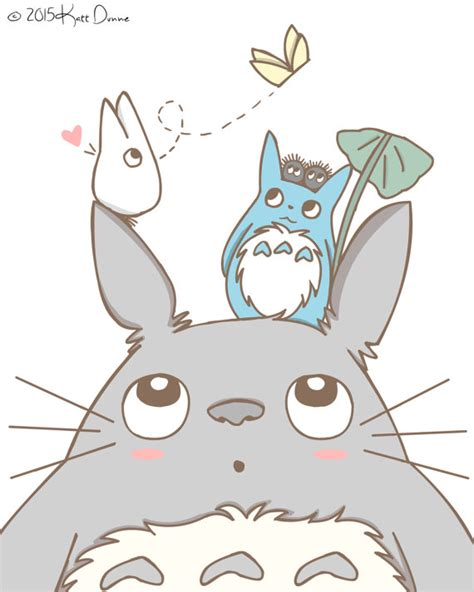 imagenes kawaii de totoro totoro art anime illustrations kawaii by pocketsizedobserver