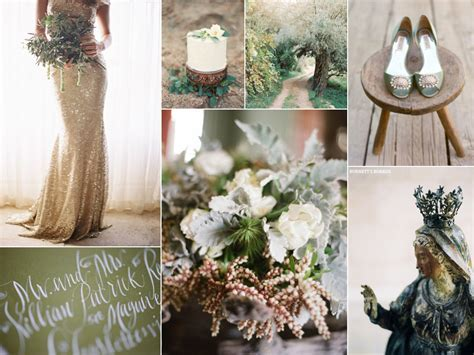 Olive Green and Gold Wedding