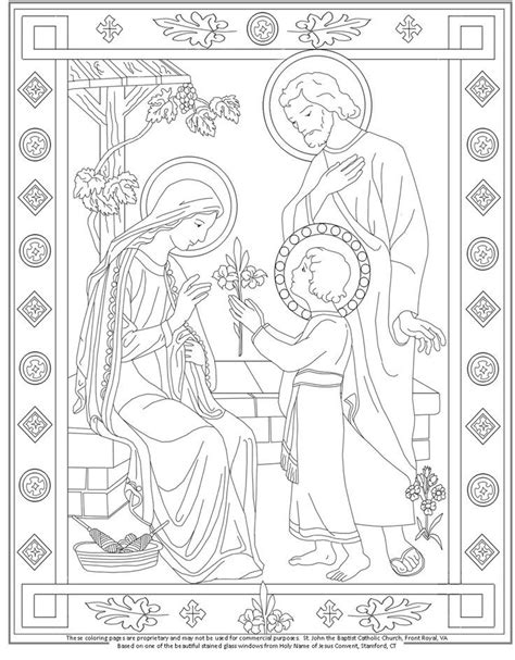 Holy Coloring Pages free coloring pages of holy family