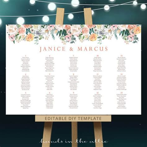 bridal shower seating chart template best 25 coral tables ideas on coral