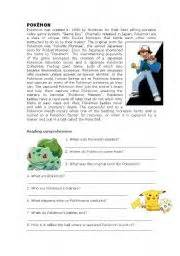 english worksheet pok 233 mon reading comprehension