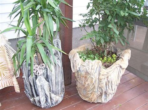 Cloth Planters by 1000 Images About Hypertufa And Concrete Rag Planters On