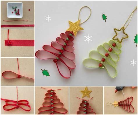 how to string ribbon on a tree wonderful diy ribbon tree
