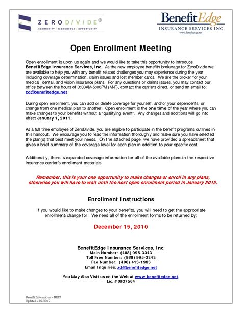 cancelling enrollment letter open enrollment health insurance sle letter 68