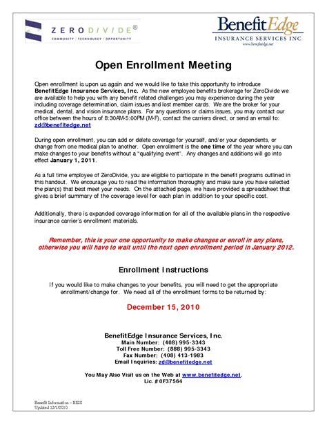 sle open enrollment letter the best letter sle