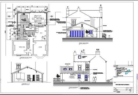 house extension plans exles house blueprints exles