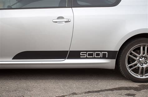 scion tc 05 10 black vinyl graphics for sides of vehicle