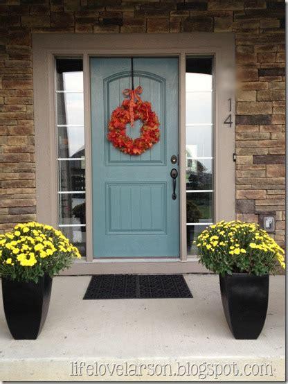 life love larson painted front door
