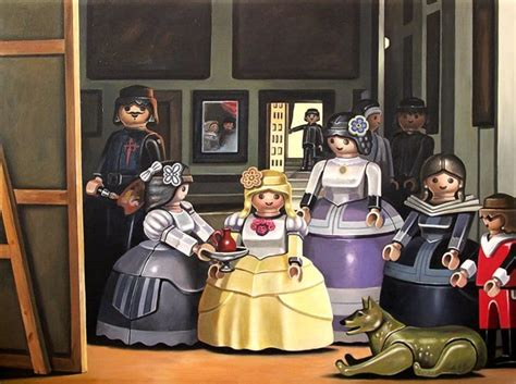 characters  classic paintings replaced  playmobil