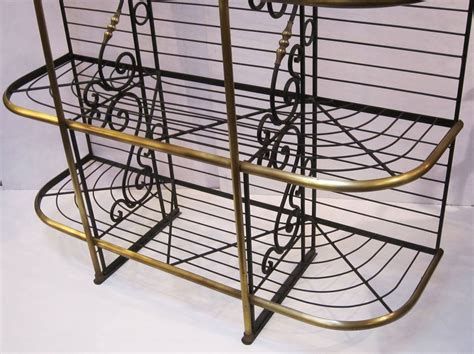 Wrought Iron Bakers Rack by Baker S Rack Of Wrought Iron And Brass At 1stdibs